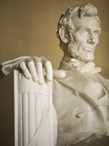 Detail of Lincoln Statue at Lincoln Memorial Photographic Print by Rudy Sulgan