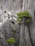 Bridge on Huangshan Mountains Photographic Print by Frank Lukasseck