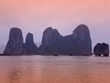 Boats in Halong Bay Photographic Print by Paul Thompson