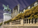 Equestrian Statue Outside Hotel de Ville Photographic Print by Peet Simard