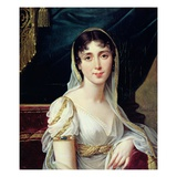 Desiree Clary, Queen of Sweden Giclee Print by Robert Lefevre