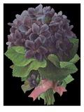 Die-Cut Scrap of Violet Bouquet Giclee Print
