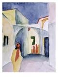 A Glance Down an Alley Giclée-Druck von August Macke