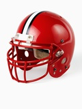 Football Helmet Impresso fotogrfica por Randy Faris