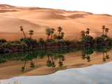 Mafo Lake in the Libyan Desert Photographic Print by Michel Gounot