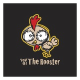 Year of the Rooster Lámina giclée