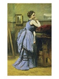 Woman in Blue Giclee Print by Jean-Baptiste-Camille Corot