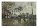 The Coach to Louvecienne Giclee Print by Camille Pissarro