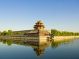 Corner Tower and Moat Photographic Print by Xiaoyang Liu