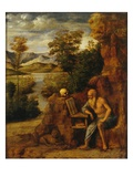 Saint Jerome in the Desert Giclee Print by Cima da Conegliano