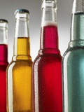Four Cool Bottles of Alcopops Photographic Print by Steve Lupton