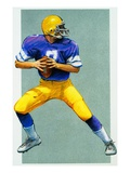 Football Player Giclee Print by Steve Coppin