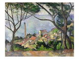 La mer à l'Estaque Reproduction procédé giclée par Paul Cezanne
