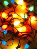 Christmas Lights Fotografisk tryk af Randy Faris