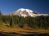 Fall Colors at Sunrise on Mount Rainier Photographic Print by Craig Tuttle