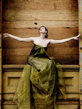 Woman with Arms Outstretched Photographic Print by Elisa Lazo De Valdez