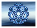 Buckyball also known as Fullerene or Buckminsterfullerene Lámina giclée por Matthias Kulka