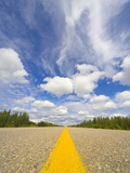 Empty Alaska Highway in Canada Photographic Print by John Eastcott & Yva Momatiuk