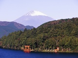 Shinto Shrine on Shore of Lake Ashi Photographic Print by Blaine Harrington