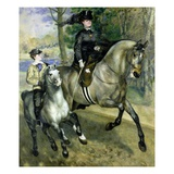 Horsewoman in the Bois de Boulogne Giclee Print by Pierre Auguste Renoir