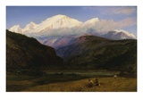 A View of Mont Blanc from Servoz, France Gicleetryck av Henry Moore