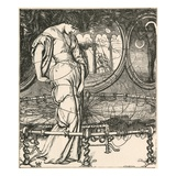 Illustration of the Lady of Shalott by William Holman Hunt Reproduction procédé giclée