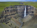 Hengifoss Waterfall Photographic Print by Hans Strand