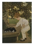 The Senses: Touch Giclee-vedos tekijänä Jessie Willcox Smith