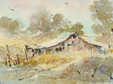Dogtown Road Barn Premium Giclee Print by LaVere Hutchings