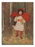 Little Red Riding Hood Giclee Print by M.L. Kirk