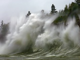 Storm Waves on Lake Superior Crashing on Minnesota Shoreline Photographic Print by Layne Kennedy