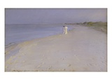 Summer Evening at the South Beach, Skagen Giclee Print by Peder Severin Kröyer