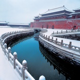 Wu Gate and Jinshui Bridge Covered in Snow Photographic Print
