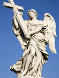 Statue of an Angel on Sant'Angelo Bridge Photographic Print by Paul Seheult