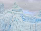 Stranded Icebergs Sculpted by Waves and Melt Photographic Print by John Eastcott & Yva Momatiuk