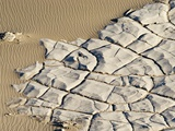 Cracked Rock Formation in Desert Photographic Print by Kennan Ward
