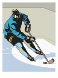 an image of a hockey player on the ice rink Gicleetryck