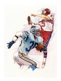 Football Giclee Print by Brian Harper