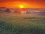 Farmland at Sunrise Fotografie-Druck von Frank Krahmer