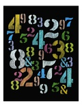 Assortment of Stenciled Letters Giclée-tryk