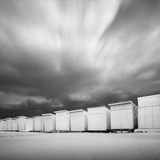 Cabanas on Beach Photographic Print by David Burdeny