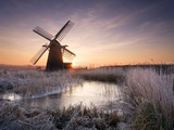 Herringfleet Windmill at Sunrise Photographic Print by Chris Herring