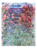 The House at Giverny under the Roses Giclee Print by Claude Monet