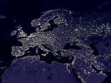Europe at Night Lámina fotográfica