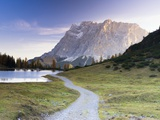 Autumn Morning at Lake Seebensee by Mt. Zugspitze Photographic Print by Frank Lukasseck
