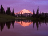 Mount Rainier and Tipsoo Lake Photographic Print by Craig Tuttle