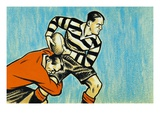 Rugby Giclee Print by Peter Holt