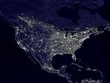 North America at Night Photographie
