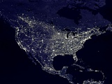 North America at Night Fotografie-Druck