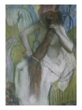 Woman Combing her Hair Giclee Print by Edgar Degas